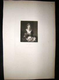 After Joshua Reynolds C1830 Folio Mezzotint. Miss Lister, Children